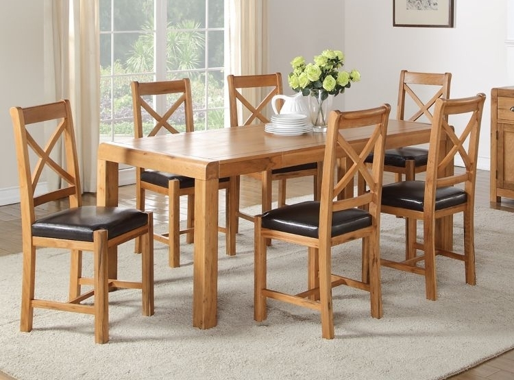 Buy Oakridge Solid Oak Rectangular Extending Dining Set With 4 Chairs