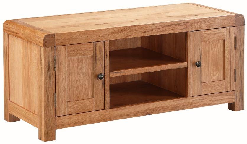 Oakridge Solid Oak 2 Door Large TV Unit