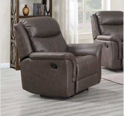 Portland Rustic Brown Recliner Armchair