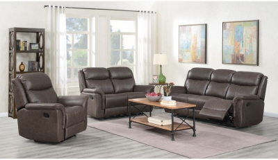 Portland Rustic Brown Recliner Sofa