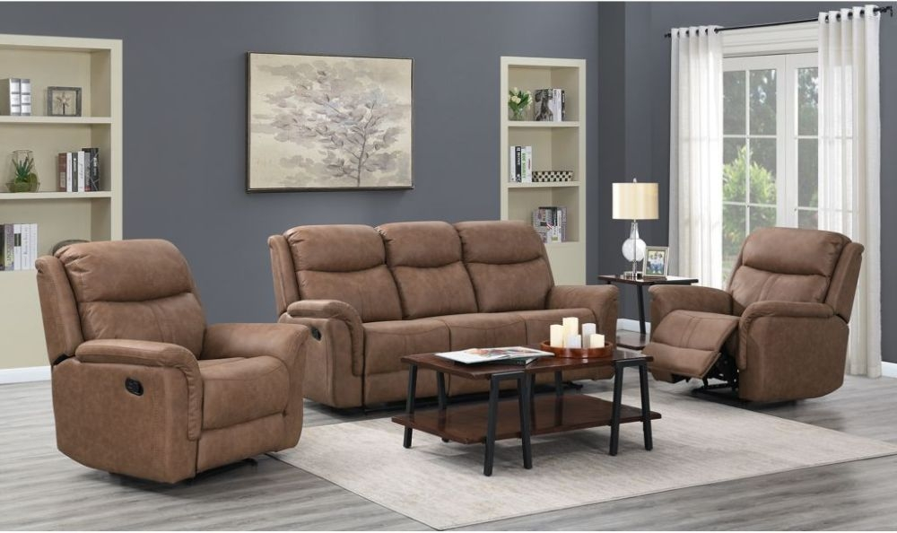 Portland Dark Taupe Recliner Sofa