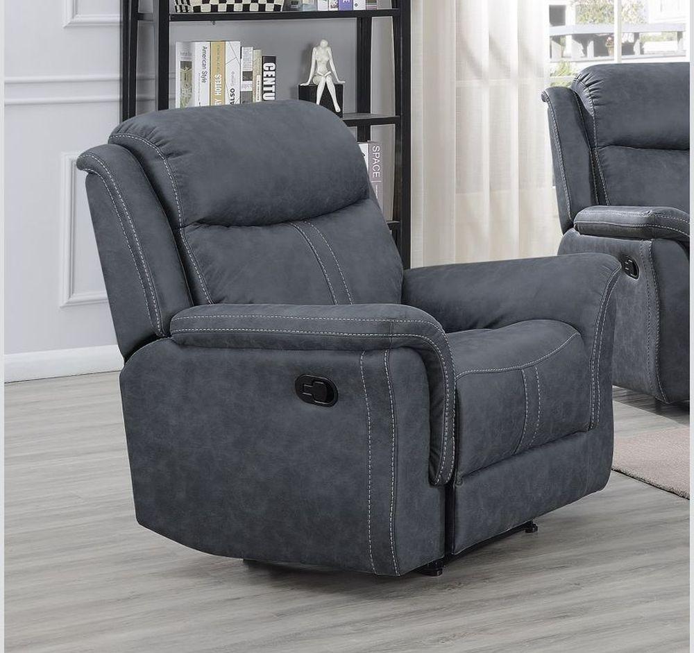 Portland Slate Grey Recliner Armchair