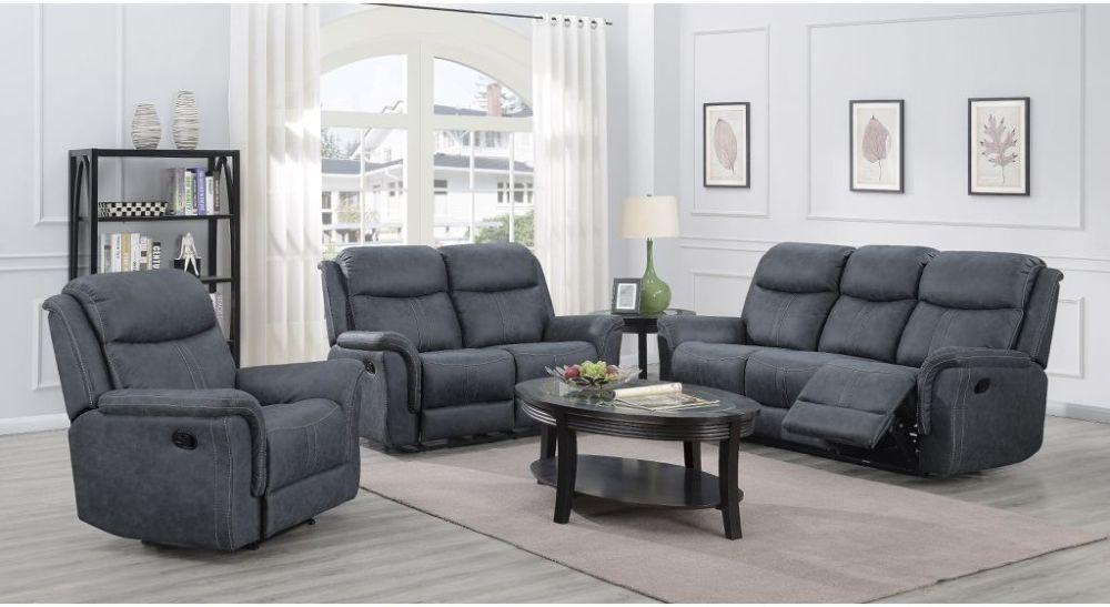 Portland Slate Grey Recliner Sofa