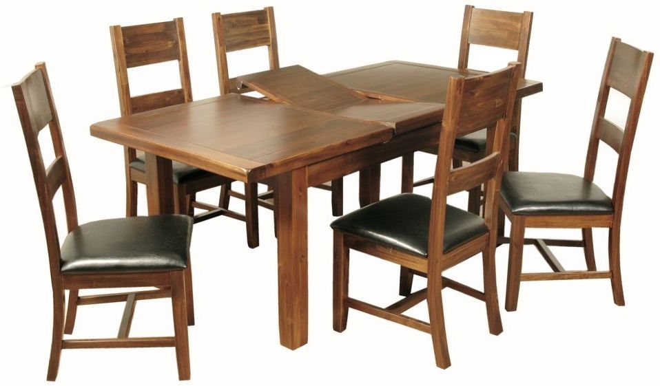 Roscrea 5ft Dining Set - Butterfly Extending with 6 Ladder Back Chairs
