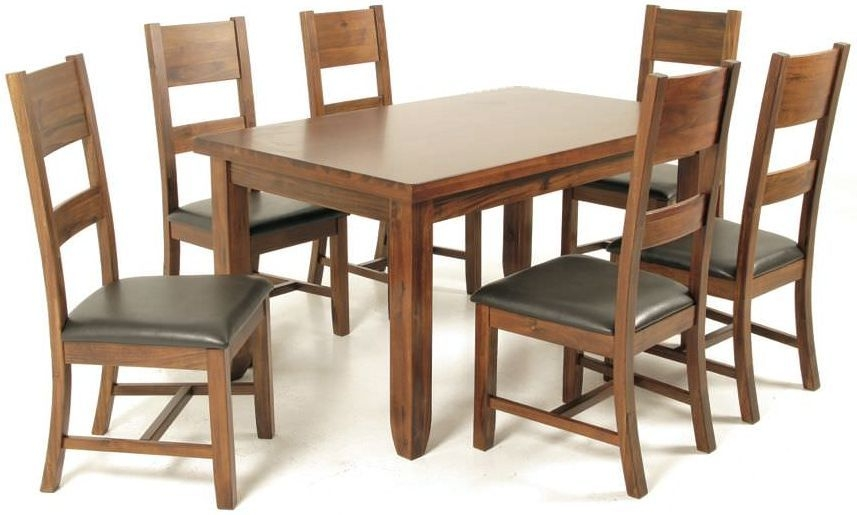 Roscrea 5ft Dining Set - with 6 Ladder Back Chairs