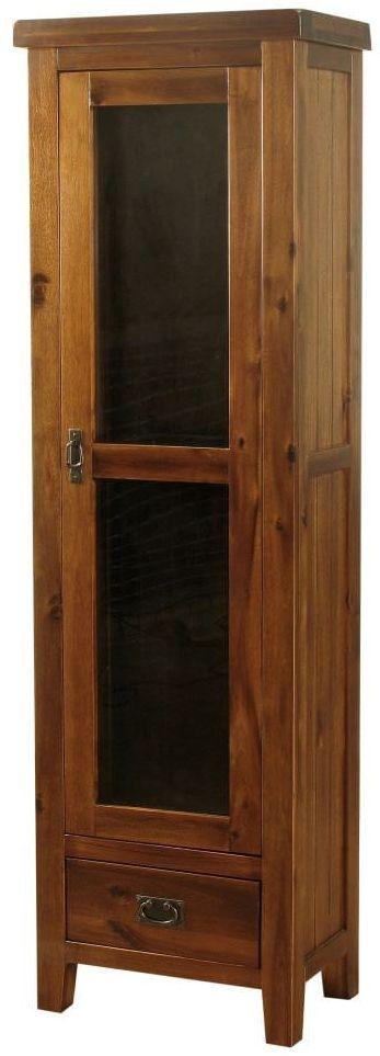 Roscrea Dark Acacia Display Cabinet