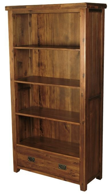 Roscrea Dark Acacia Tall Bookcase