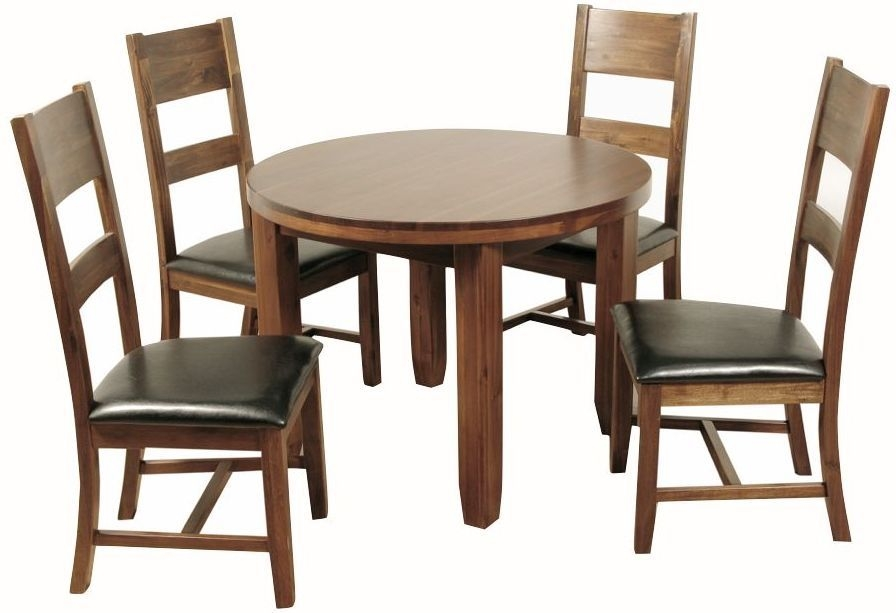 Roscrea Dining Set - Round with 4 Ladder Back Chairs