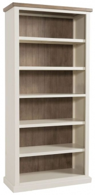 Santorini Stone Painted Tall Bookcase