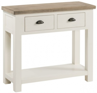 Santorini Stone Painted Large Console Table