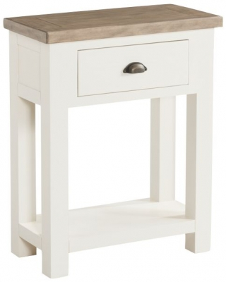 Santorini Stone Painted Console Table