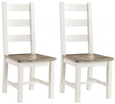 Santorini Stone Painted Dining Chair (Pair)