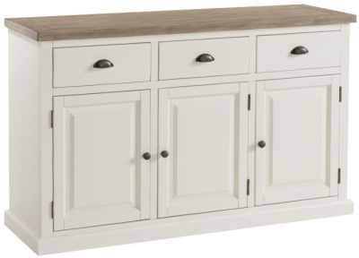 Santorini Stone Painted Wide Sideboard