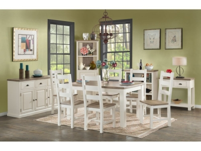 Santorini Stone Painted Dining Table and 4 Chairs