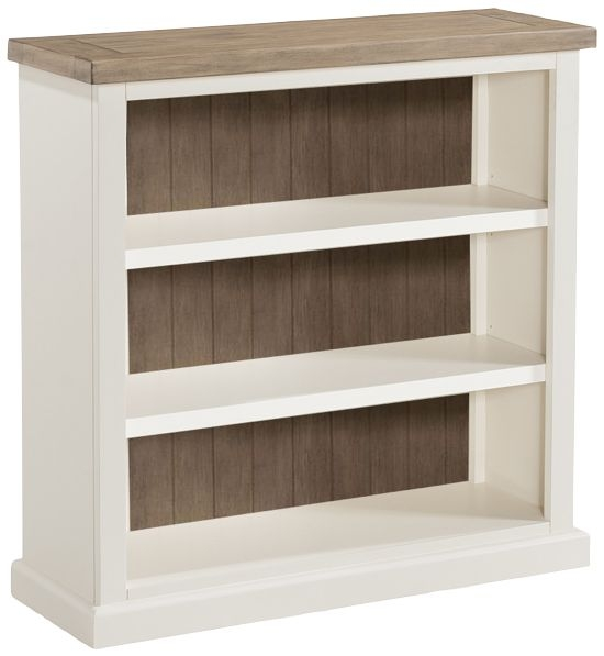 Santorini Painted Low Bookcase