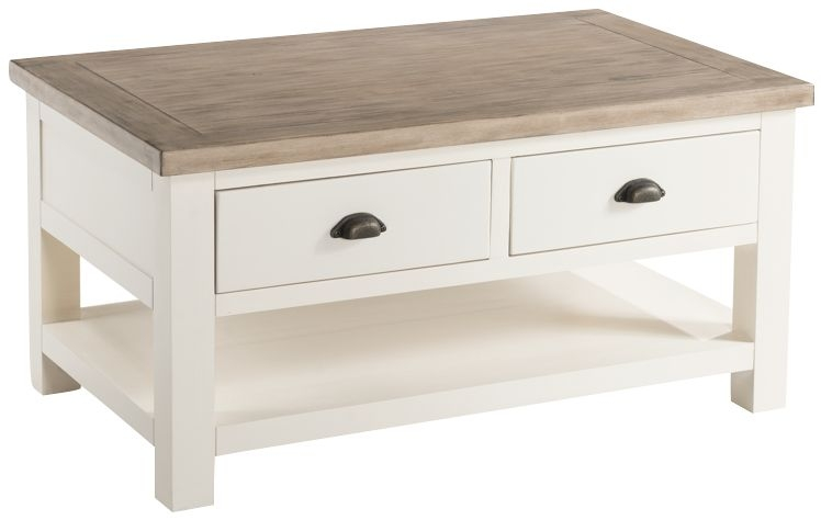 Santorini Painted 2 Drawer Storage Coffee Table