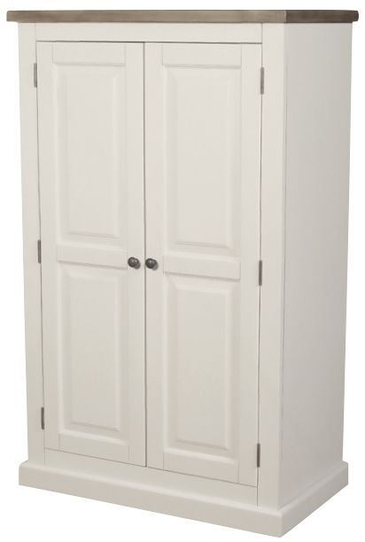Santorini Painted 2 Door Compact Linen Press Double Wardrobe