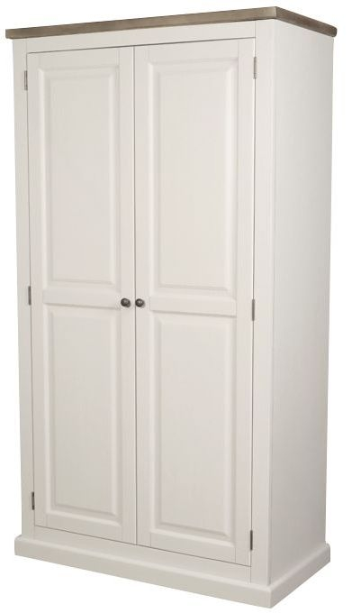 Santorini Painted 2 Door Full Hanging Double Wardrobe