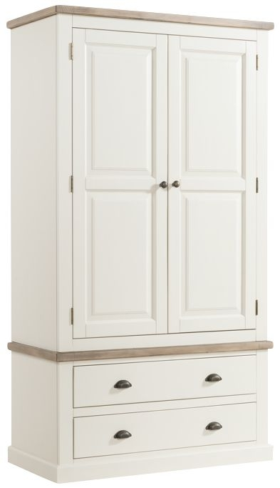 Santorini Painted Double Wardrobe with Drawer