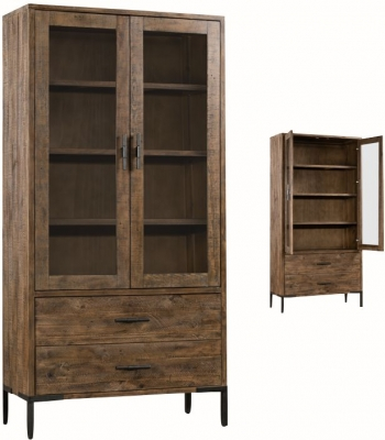 Seville Dark Pine Display Cabinet
