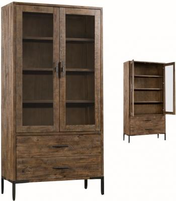 Seville Dark Pine Display Cabinet