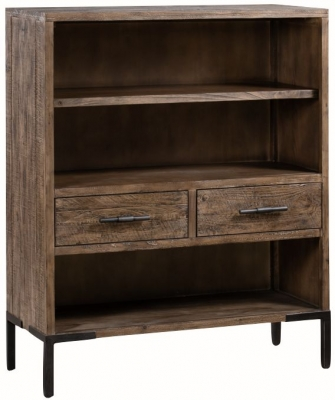Seville Dark Pine Low Bookcase