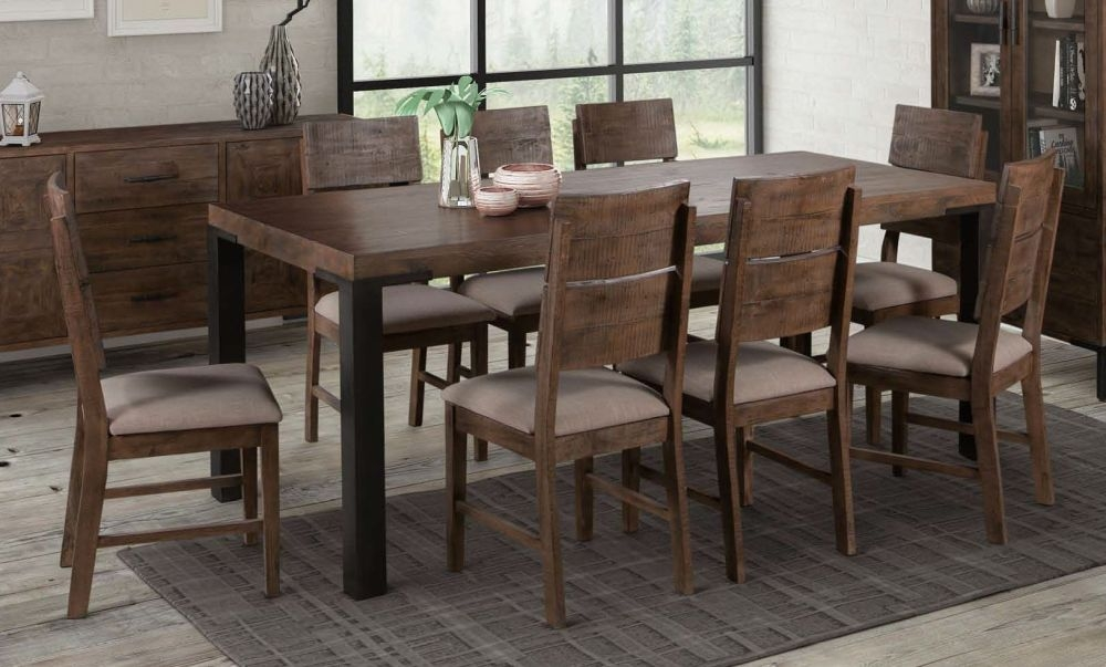 Seville Dark Pine Dining Table and 6 Chairs