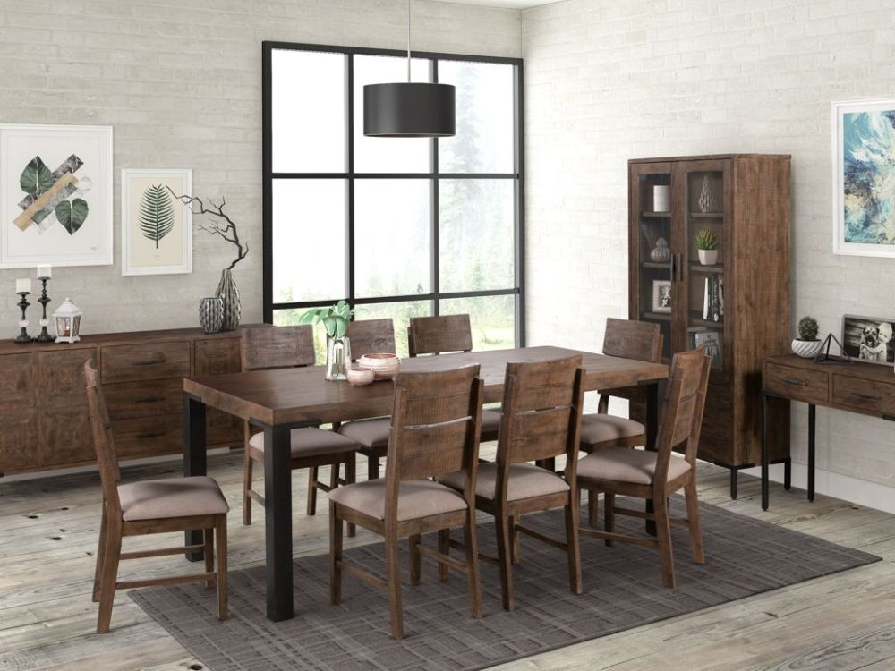 Seville Dark Pine Large Dining Table and 6 Chairs