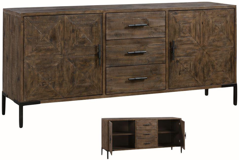 Seville Dark Pine Large Sideboard