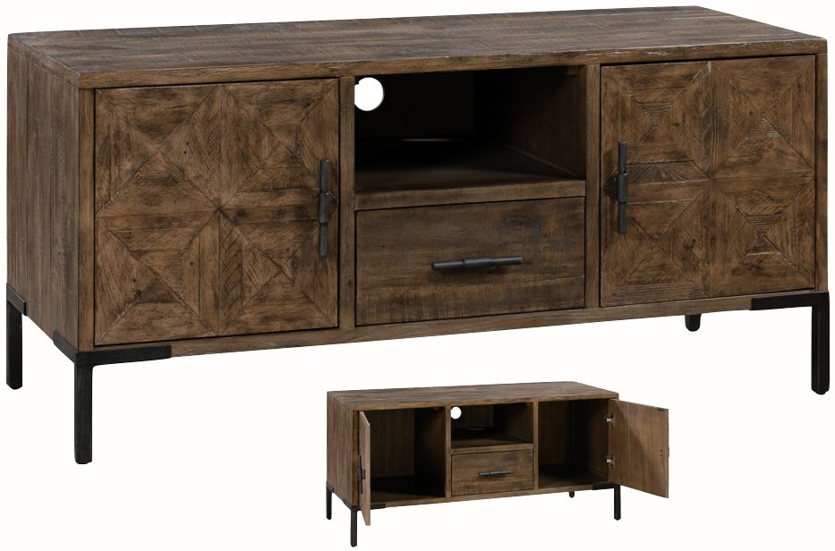 Seville Dark Pine Large TV Unit