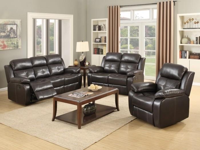 Dorchester Dark Brown 3+1+1 Sofa Suite