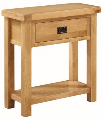 Somerset Oak Hall Table with Drawer - Medium