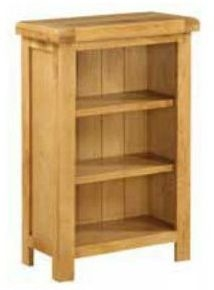 Somerset Oak Low Slim Bookcase