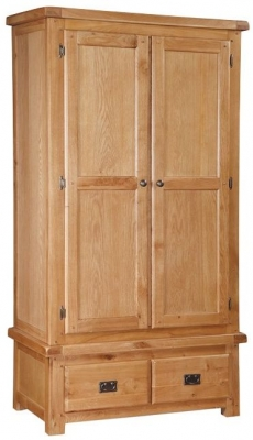 Somerset Oak Wardrobe - 2 Door