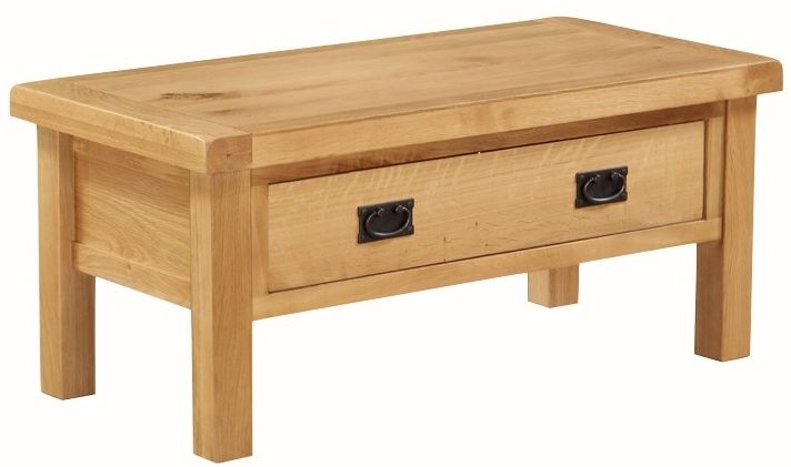 Somerset Oak Coffee Table with Drawer - Small