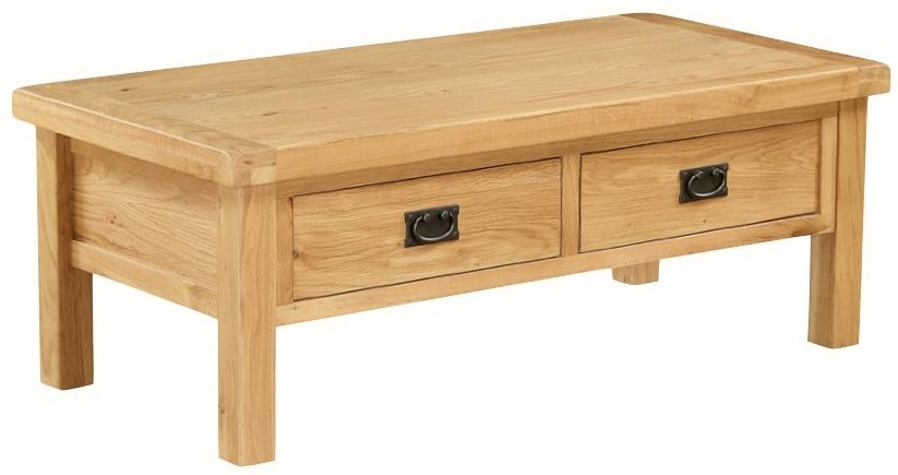 Somerset Oak Coffee Table with Drawer - Large