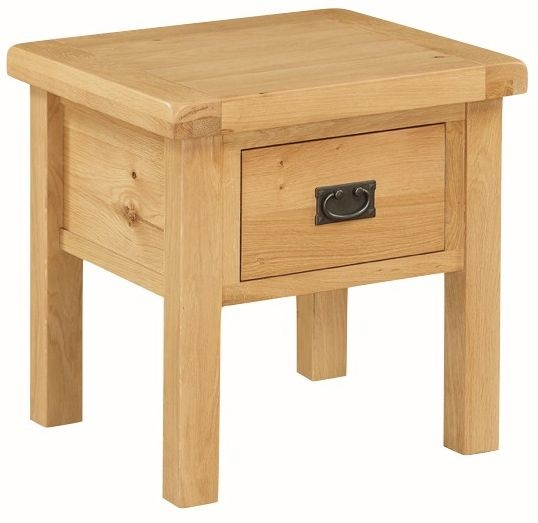 Somerset Oak End Table With Drawer