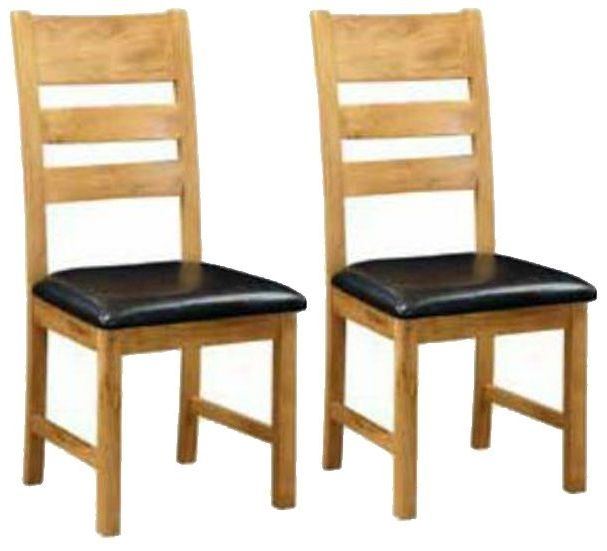 Somerset Oak Ladder Back Dining Chair (Pair)