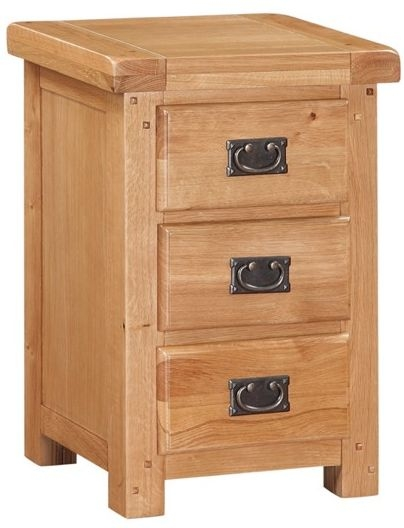 Somerset Oak Nightstand - 3 Drawer