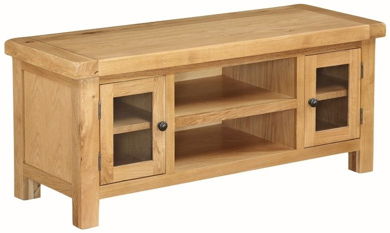 Somerset Oak Straight TV Unit - Large