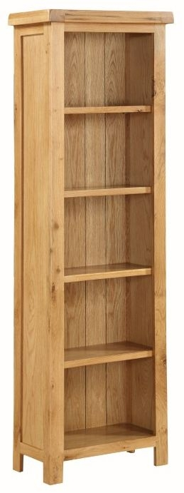 Somerset Oak Tall Slim Bookcase