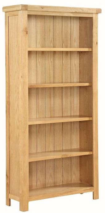 Somerset Oak Tall Wide Bookcase