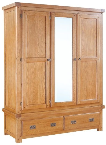 Somerset Oak Wardrobe - 3 Door