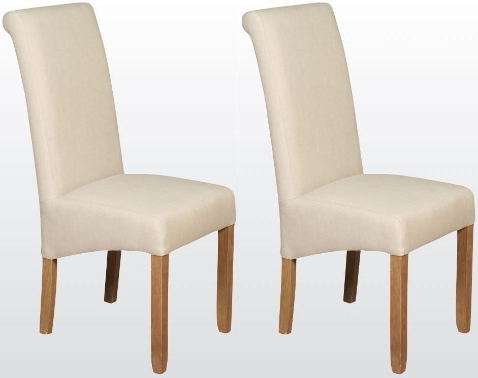 Sophie Beige Fabric Dining Chair (Pair)
