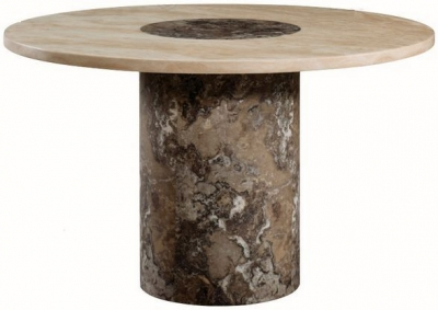 Sorrento Marble Dining Table - 4ft Round
