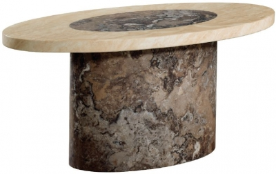 Sorrento Marble Coffee Table - Oval
