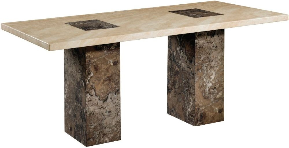 Sorrento Marble Dining Table - 6ft