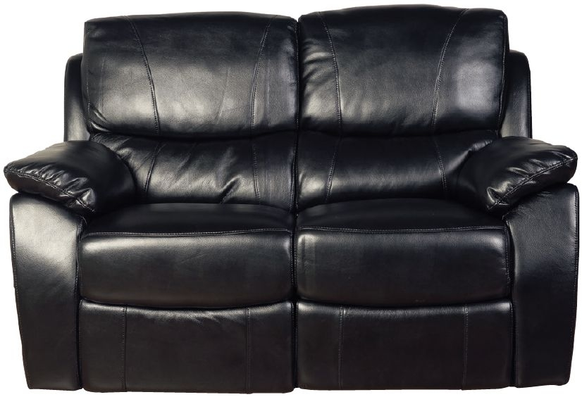 Swindon Black LA Recliner 2 Seater Sofa