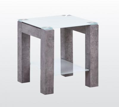 Tivoli End Table - Glass and Concrete Effect