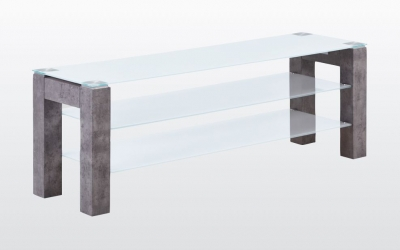 Tivoli Large TV Unit - Glass and Concrete Effect